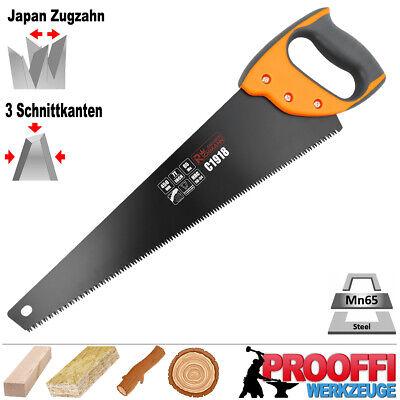 Profi Handsäge Baumsäge Fuchsschwanz Garten Holz Säge Japan Zugzahn TEFLON C1918