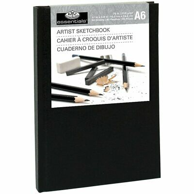 Royal & Langnickel A6 80 Sheet Hardback Casebound Artist Sketchbook Drawing Pad