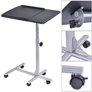 Adjustable Angle U0026 Height Rolling Laptop Notebook Desk Stand Over Sofa Bed  Table