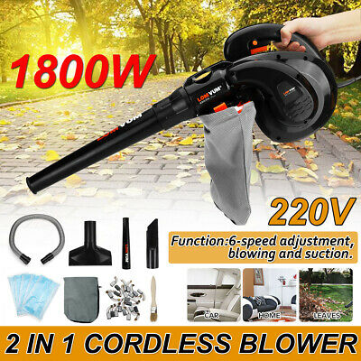 32Pcs/Set 1800W Leaf Blower Battery Tool Dust Sweeper Vacuum Cleaner 220V