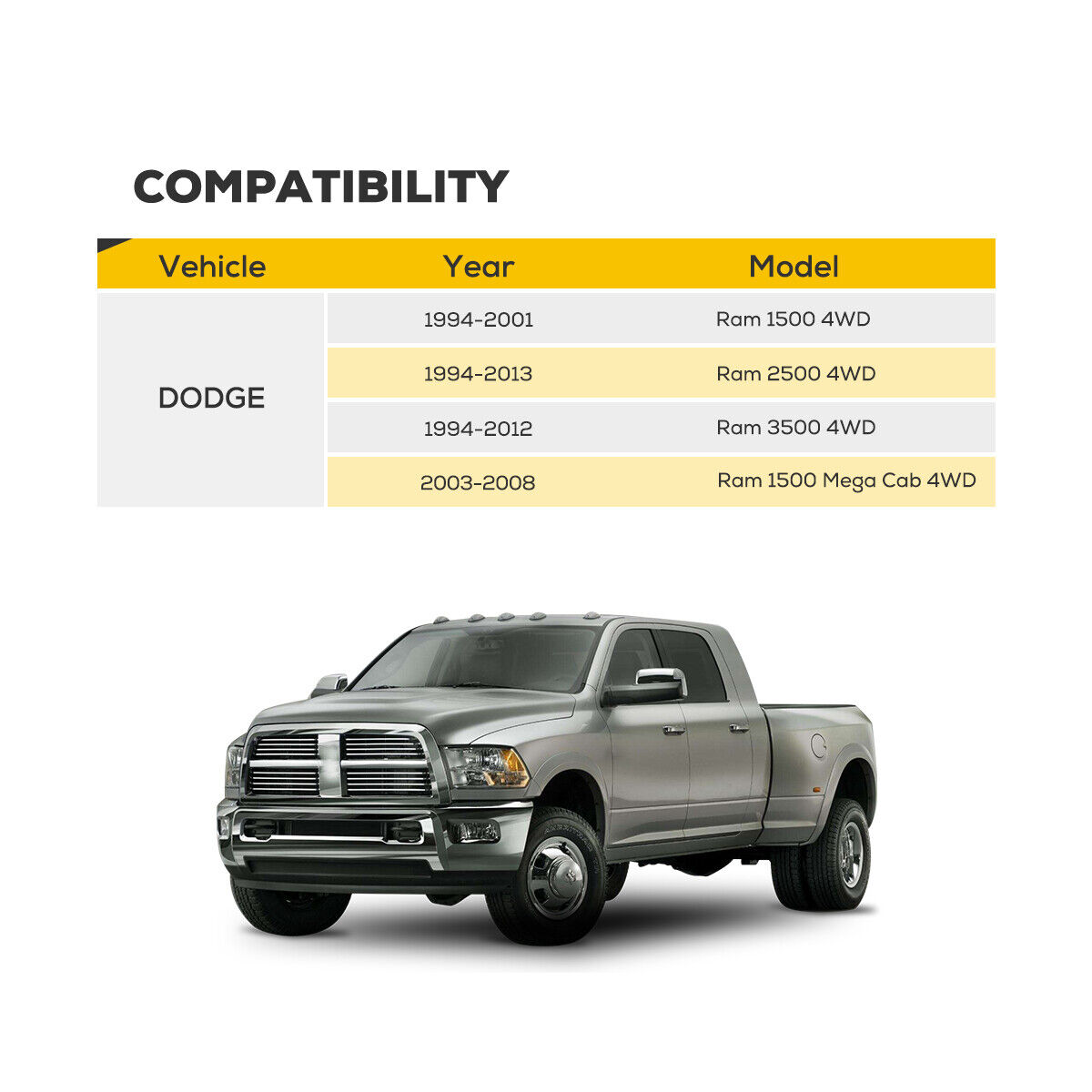 """FITS DODGE RAM 2500 3500 94-13 4WD 2.5/"""" INCH LIFT FRONT LEVELING KIT 4X4 STEEL"""