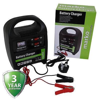 8AMP 6V/12V HEAVY DUTY VEHICLE BATTERY CHARGER CAR VAN MAINS ELECTRICAL CHARGING