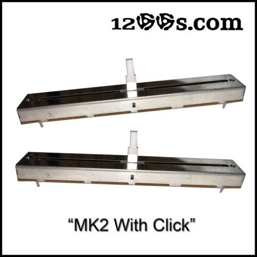 2x TECHNICS 1200 MK2 1210 PITCH CONTROL SLIDER SFDZ122N11-2 / SFDZ122N11-1 CLICK