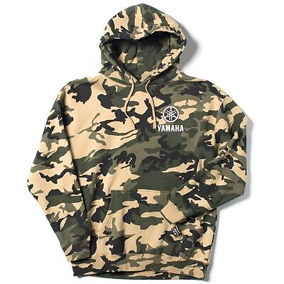 Yamaha Camo Pullover Hooded Sweatshirt by Factory Effex-Size X-Large-Brand New