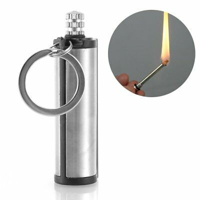 Waterproof Emergency Fire Starter Flint Match Lighter Keychain Outdoor Survival