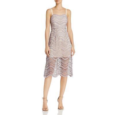 La Maison Talulah Womens Vixen Lace Tea-Length Party Midi Dress BHFO 9994 Lace Tea Dress