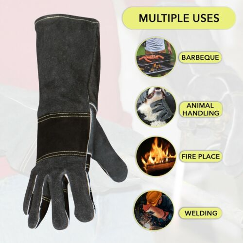 Welding Gloves Max Fireplace Protective Leather Gear for Men and Women Welders