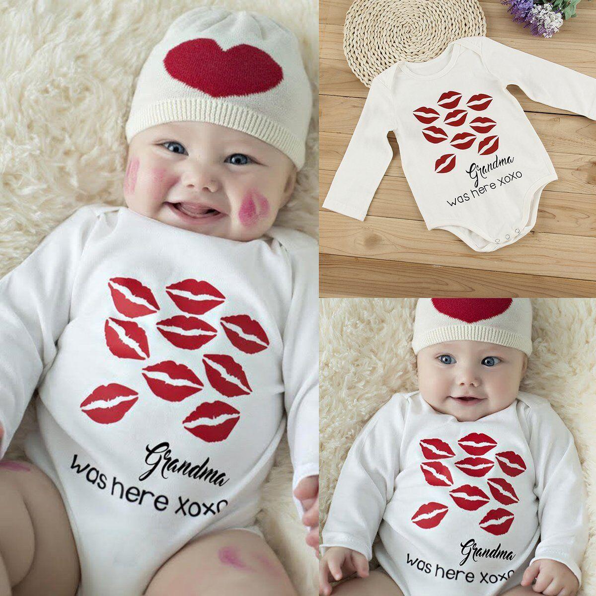 Newborn Infant Baby Boy Girl Cotton Romper Jumpsuit Bodysuit Kids Clothes Outfit