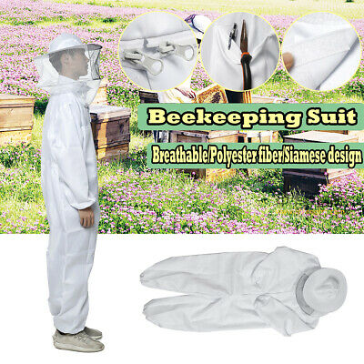 Professional Protect Full Body Beekeeping Bee Keeping Suit W Veil Hood Coverall