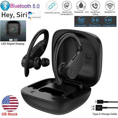 LED TWS True Wireless Bluetooth 5.0 Earbuds Earphone Hook Headphones Headset Box