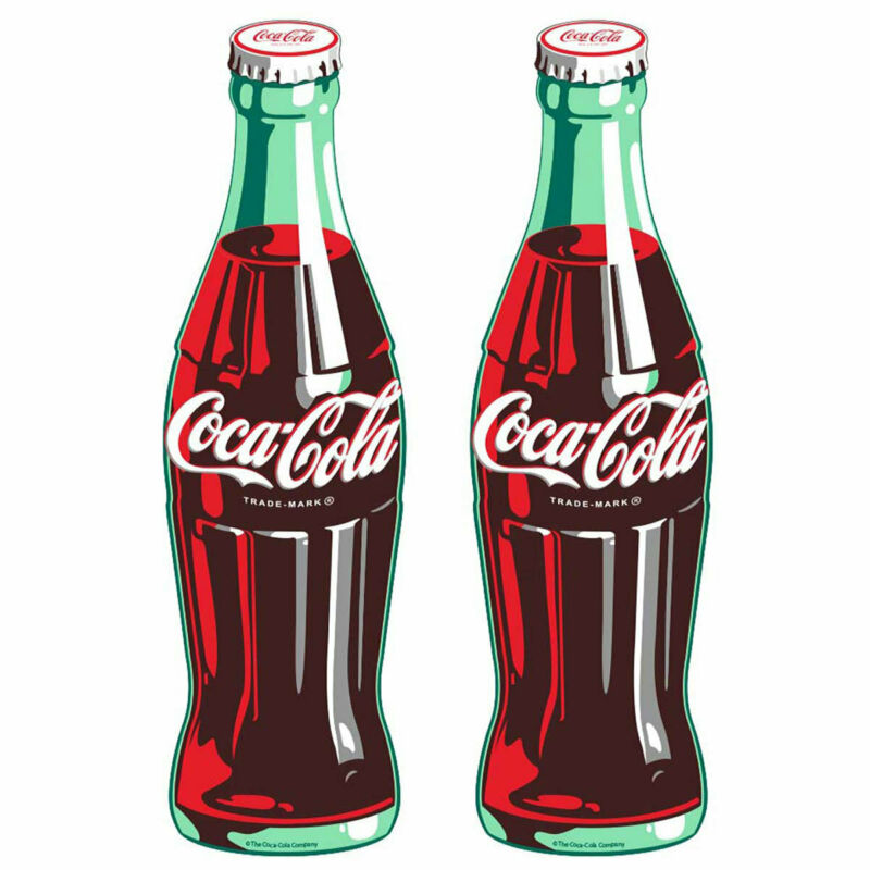 Coca-Cola Green Contour Bottle Decal Set Peel & Stick Wall Graphic