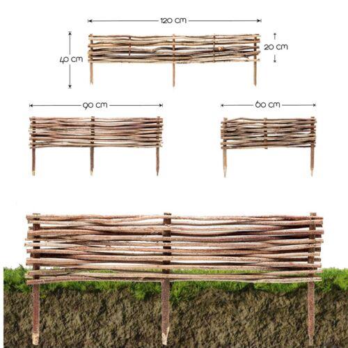 Beeteinfassung Haselnuss • Beet-Umrandung Abgrenzung Garten Steck-Zaun Palisade