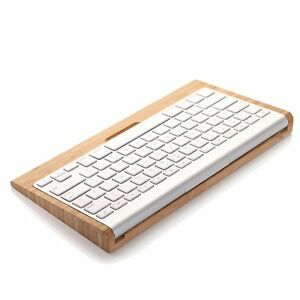 Wood Wireless Bluetooth Keyboard Stand Dock Holder for Apple Mac iPad Computer