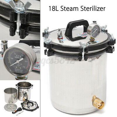 18l Professional Medical Steam Autoclave Sterilizer Dental Lab Equipment A D