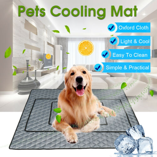 Pet Dog Cooling Mat Non-Toxic Cool Pad Pet Bed For Summer Dog Cat Puppy M/L/XL Beds