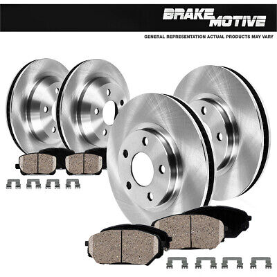 For FX50 M35H M37 M37X M56 M56X Front And Rear Brake Rotors & Ceramic Pads Kit