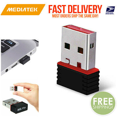 MediaTEK Mini USB 300Mbps Wireless 802.11B/G/N LAN Card WiFi Adapter Nano Wlan