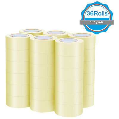 36 Rolls Clear Carton Box Shipping Packing Package Tape 1.9x110 Yards 330 Ft