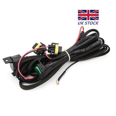 Fog Lights Wiring Harness Switch On/Off  Fuse For BMW R1200GS F800GS / ADV LED