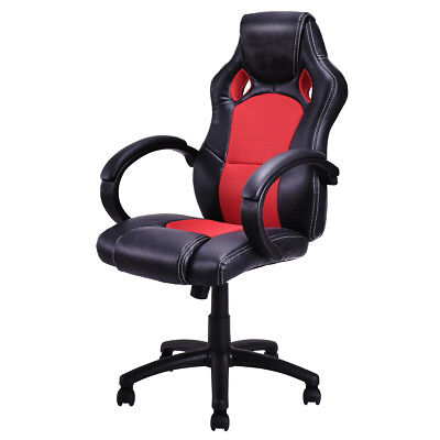 High Back Race Car Style Bucket Seat Office Desk Chair Gaming Chair Red New