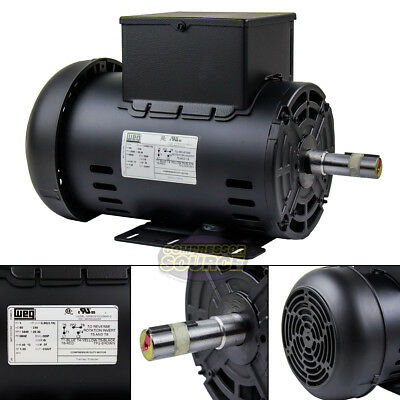 5 Hp Air Compressor Electric Motor 56hz Frame 3440 Rpm Single Phase Weg 78