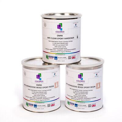 Light Beige Epoxy Resin 100 Solids For Garage Floorconcreteplywood. 3 Gal Kit