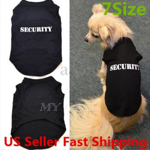 Pet Small Dog Puppy T-Shirt Security Vest Clothes Summer Apparel Costumes  US S Clothing & Shoes