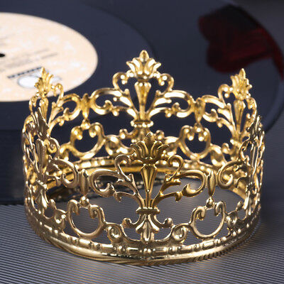 Crown For Cake (Delicate Decorative Tiara Crown Cake Decoration Crown for Wedding Birthday)