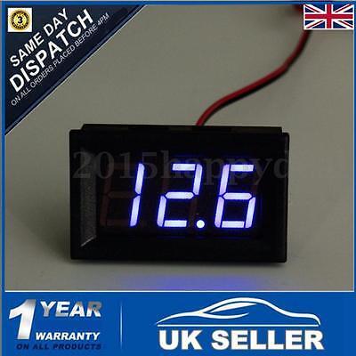 DC 3~30V Blue LED Digital Display Panel Voltmeter Voltage Gauge Car Motor UK