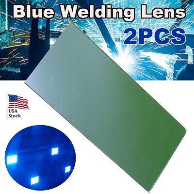 Usa Stock 2pcs 96mmx46mmx1mm 3.78x1.8x0.04 Blue Cobalt Glass Welding Lens