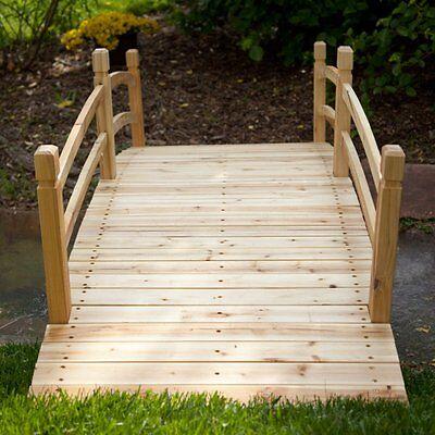 6 Foot Garden Bridge Outdoor Furniture Decor Structure Home Porch Backyard Patio