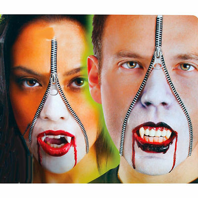 Horror Face Makeup (Horror Zipper Face Vampire Dracula Deluxe Makeup FX Kit Halloween)