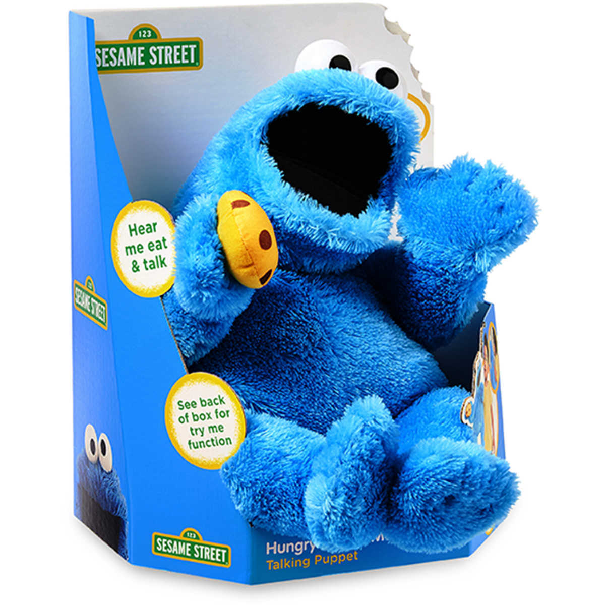 Details about Sesame Street Hungry Cookie Monster Talking Puppet With  15+Sounds Birthday Gift