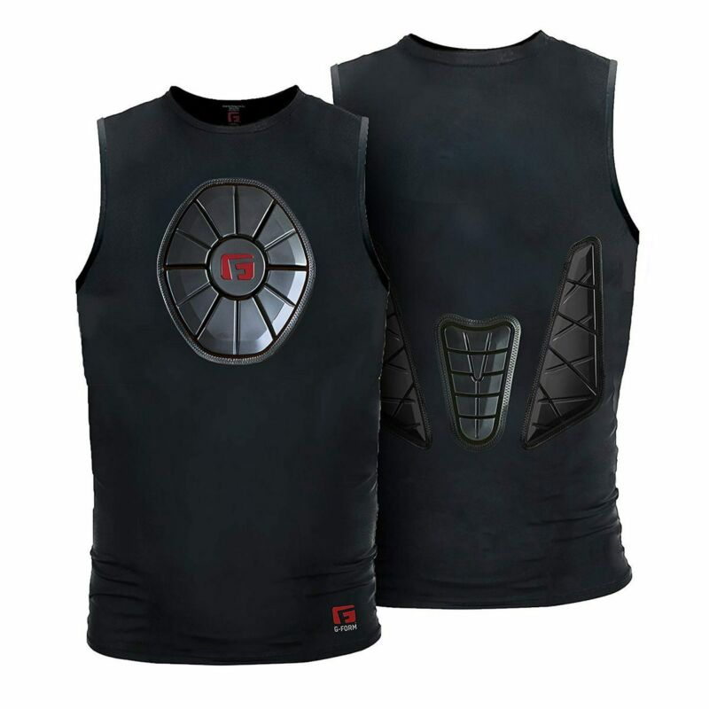 G-Form YSN0202 Black Youth Sternum/Chest/Back Guard Protective Shirt Var. Sizes