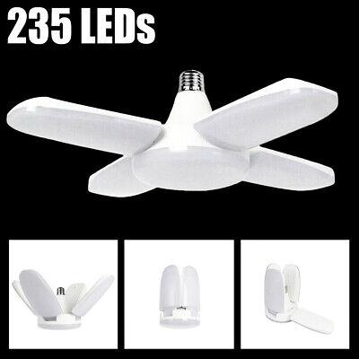LED Garage Shop Work Lights 60W 5500lm E27 Home Ceiling Fixture Deformable Lamp