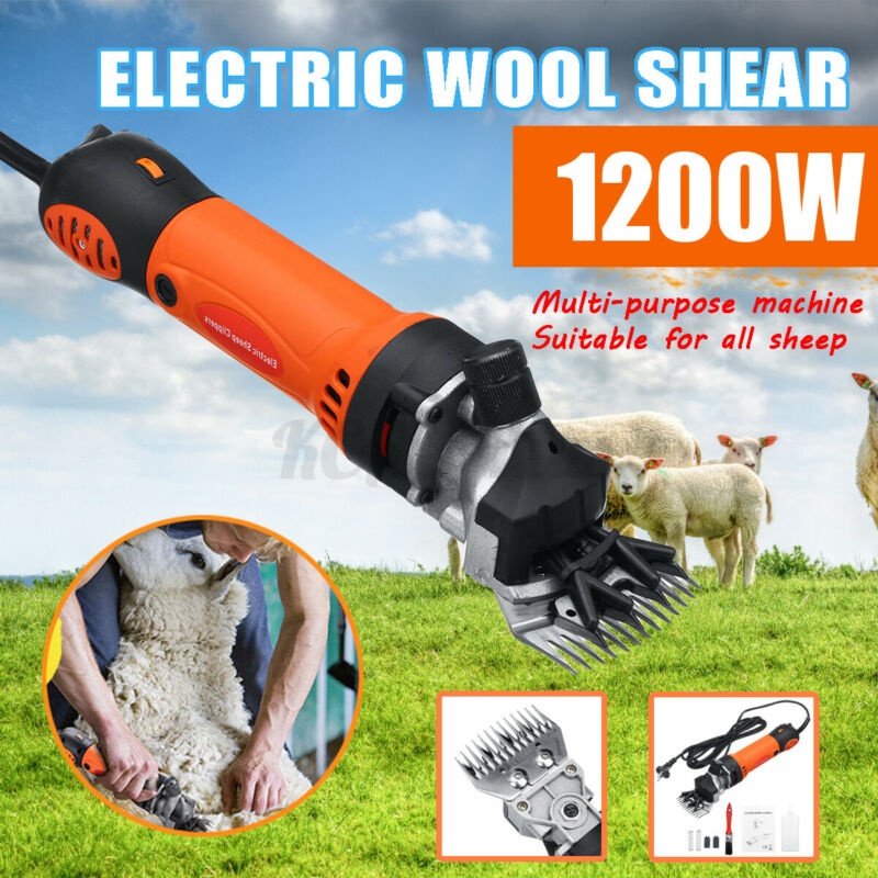 1200W 6 Speed Electric Sheep Shear Clipper Wool Goats Livestock Trimmer Grooming