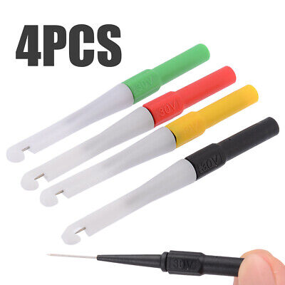 4pcs 4 Colors 0.7mm Piercing Needle Probe Pin Test Probes Mini Wire Piercer As
