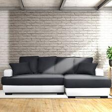 Canapé d'angle Gauche /Droit Canapé Lit Convertible avec Coffre en Tissu
