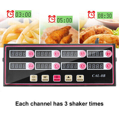 Timer Digital Commercial Kitchen Restaurant Cafe Timing Countdown Clock Cal-8b
