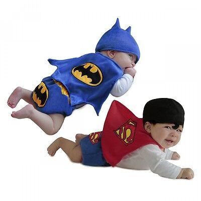 Superhero Costume Newborn Baby Diaper Cover Set Halloween Fancy Dress Up