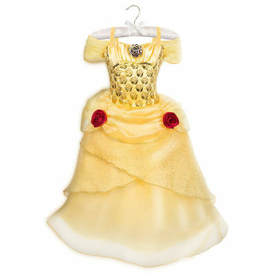 NWT Disney Store 5/6 7/8 9/10 BELLE Costume Girls Halloween Dressup NEW ()