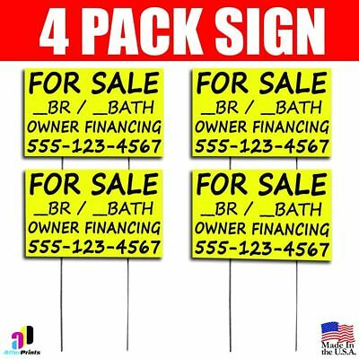 4X For Sale Br Bath Owner Financing Signs Your Phone Number Real Estate