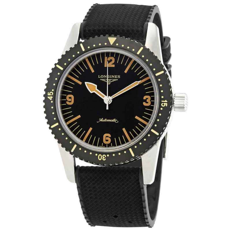 Longines Heritage Automatic Black Dial Men Watch L2.822.4.56.9