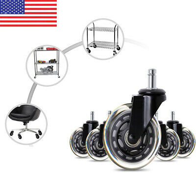 5101520pcs 3 Office Chair Rollerblade Style Soft Wheel Casters Ball Bearing