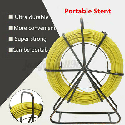 130m425ft Fish Tape 6 Mm Fiberglass Wire Cable Running Rod Duct Rodder Puller