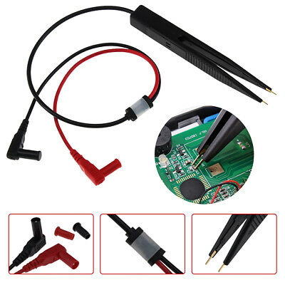 Smt Smd Chip Test Clip Lead Probe Multimeter Meter Tweezer Capacitor Resistance