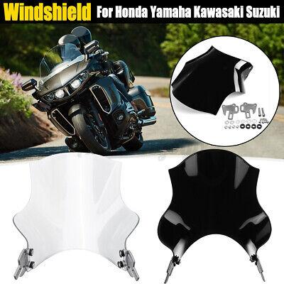 Universal Motorcycle Wind Screen Windshield For Honda Yamaha Kawasaki Suzuki