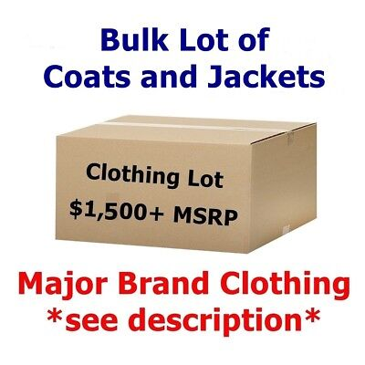 $1,500+ Wholesale Lot of COATS & JACKETS Men's/Women's Clothing - - Women Wholesale