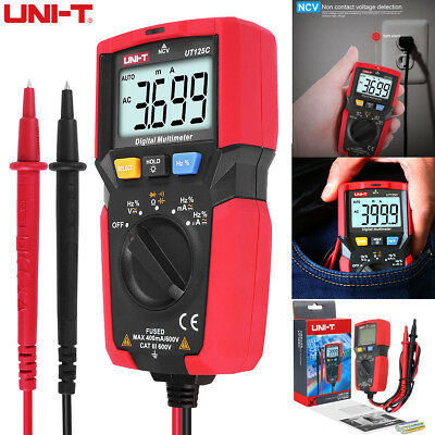 Uni-t Ut125c Pocket Size Digital Auto Range Multimeter Acdc Volt Amp Ohm Test