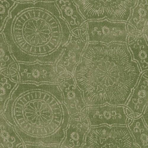 Katie Leede Green Linen Upholstery Fabric- Kimono Negative Arugula 5.50 yd KN-04